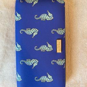 Sea horse print wallet Kate Spade brand new